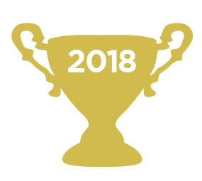 Gold 2018 trophy icon